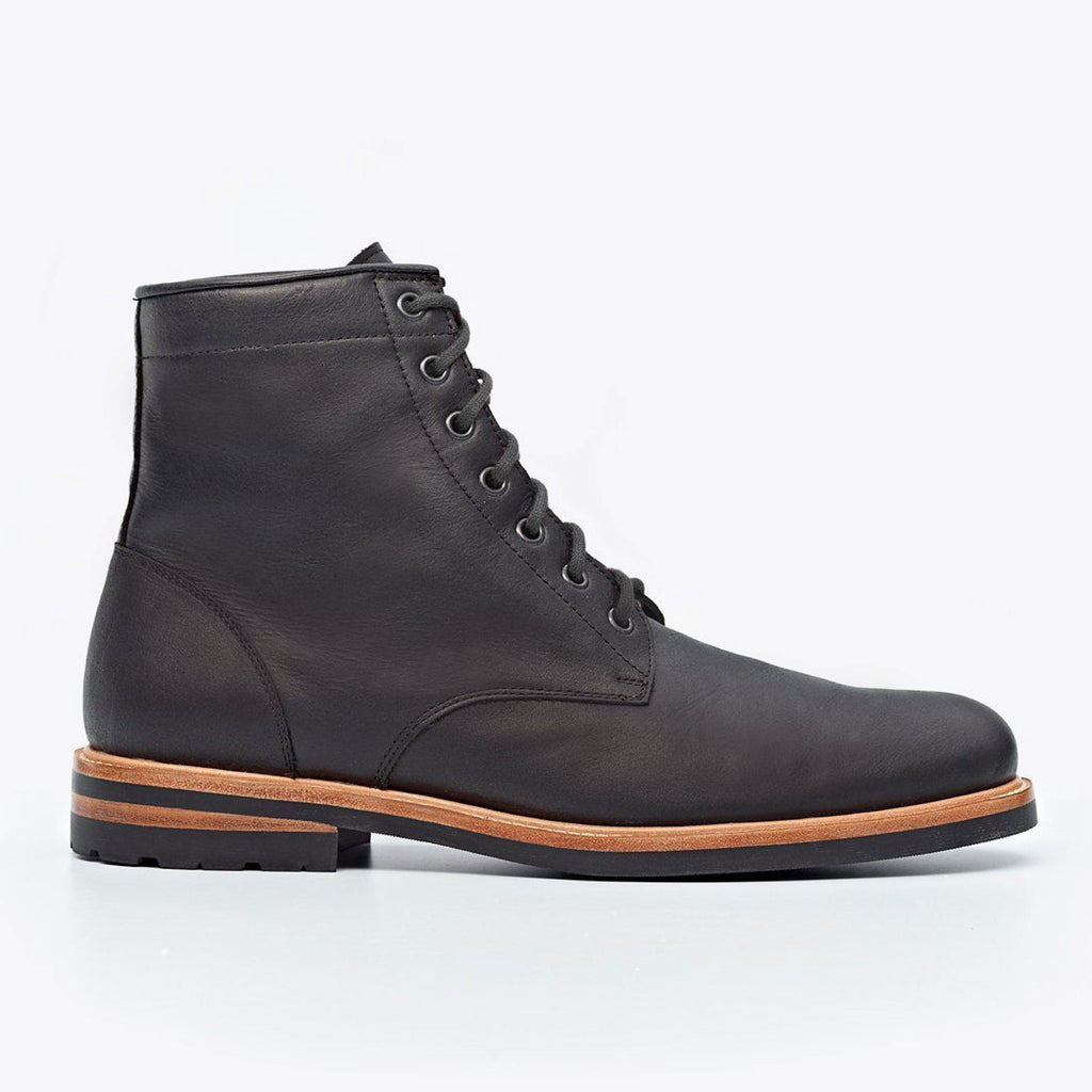 Nisolo Andres All Weather Boot Black Men's Leather Boot- Ledbury