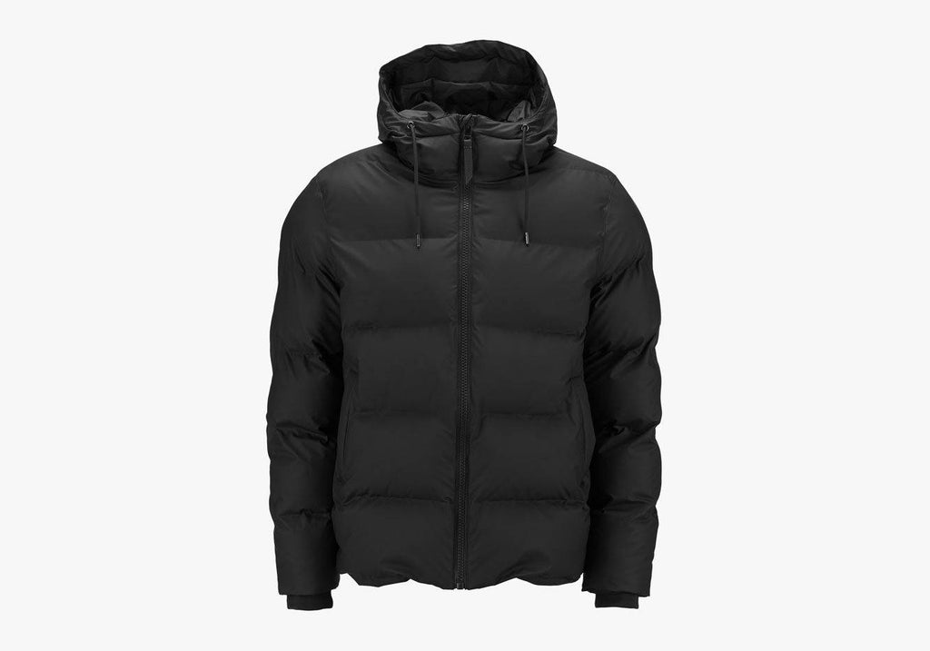 Rains Black Puffer Jacket Outerwear- Ledbury