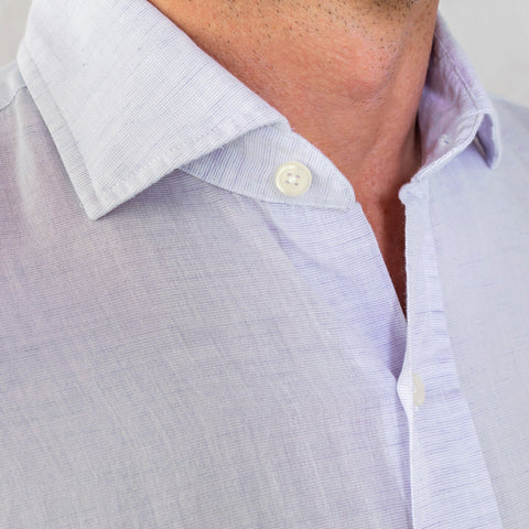 The Lavender Kingston Cotton Linen Casual Shirt