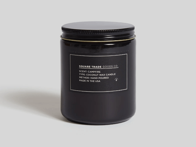 Square Trade Goods Campfire Candle Candle- Ledbury