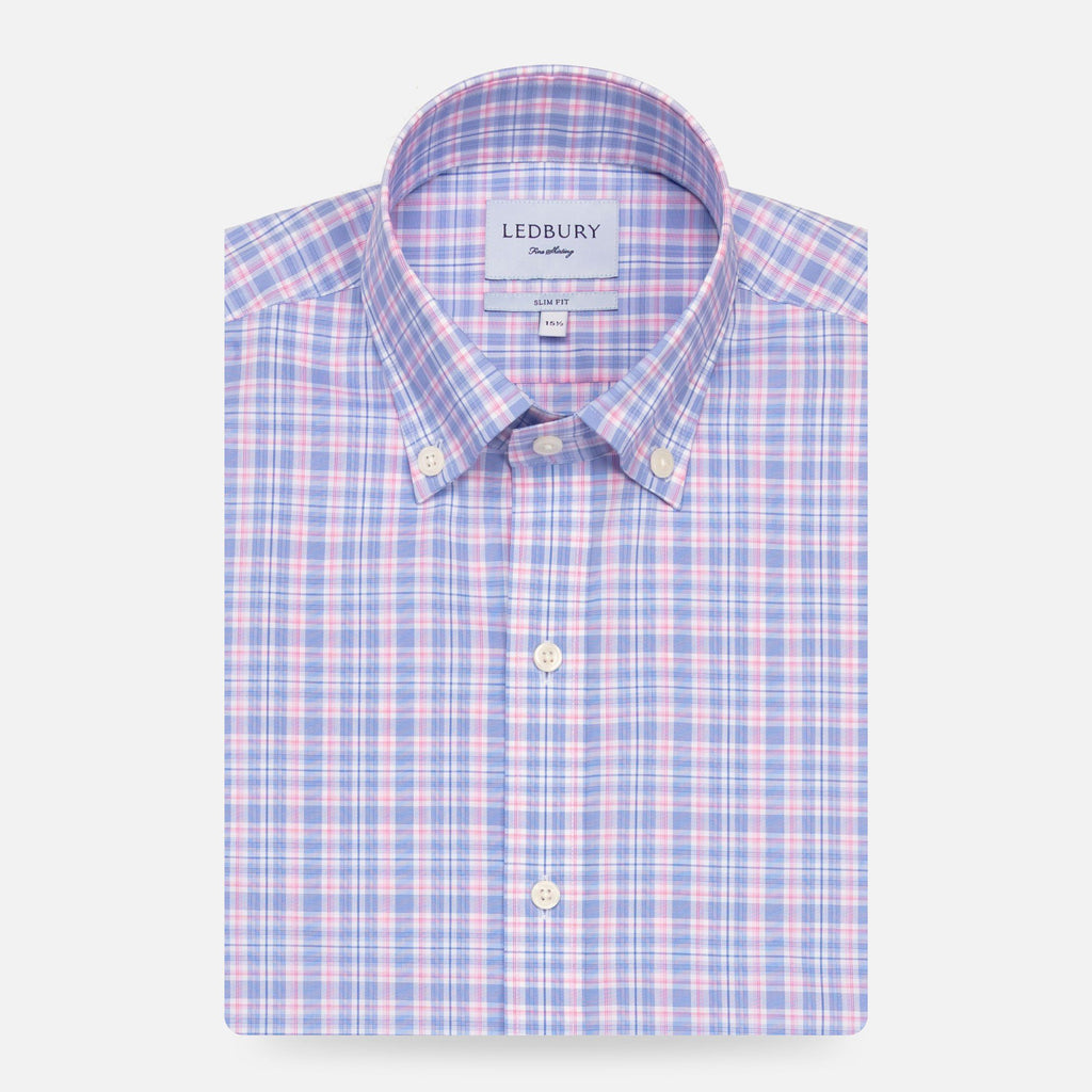 The Pink Fairford Performance Check Casual Shirt Casual Shirt- Ledbury