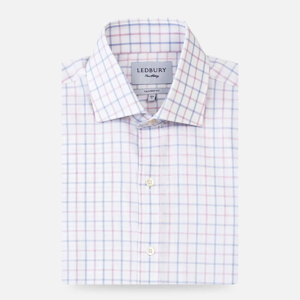 The Lilac Birchcrest Check Dress Shirt Dress Shirt- Ledbury