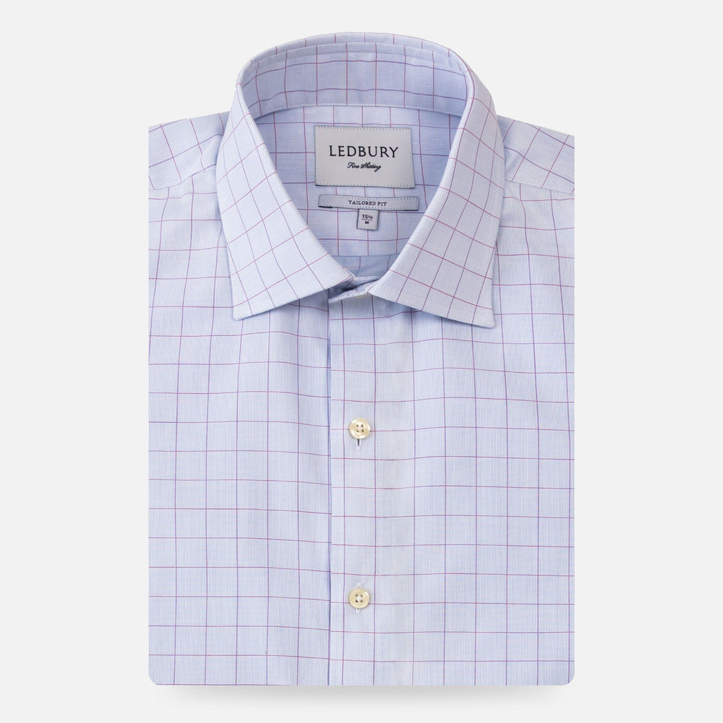 The Violet Balmoral Check Dress Shirt Dress Shirt- Ledbury