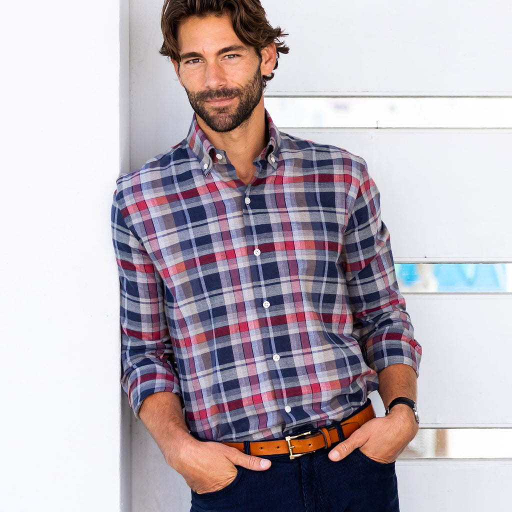The Cedar Kerley Plaid Casual Shirt Casual Shirt- Ledbury