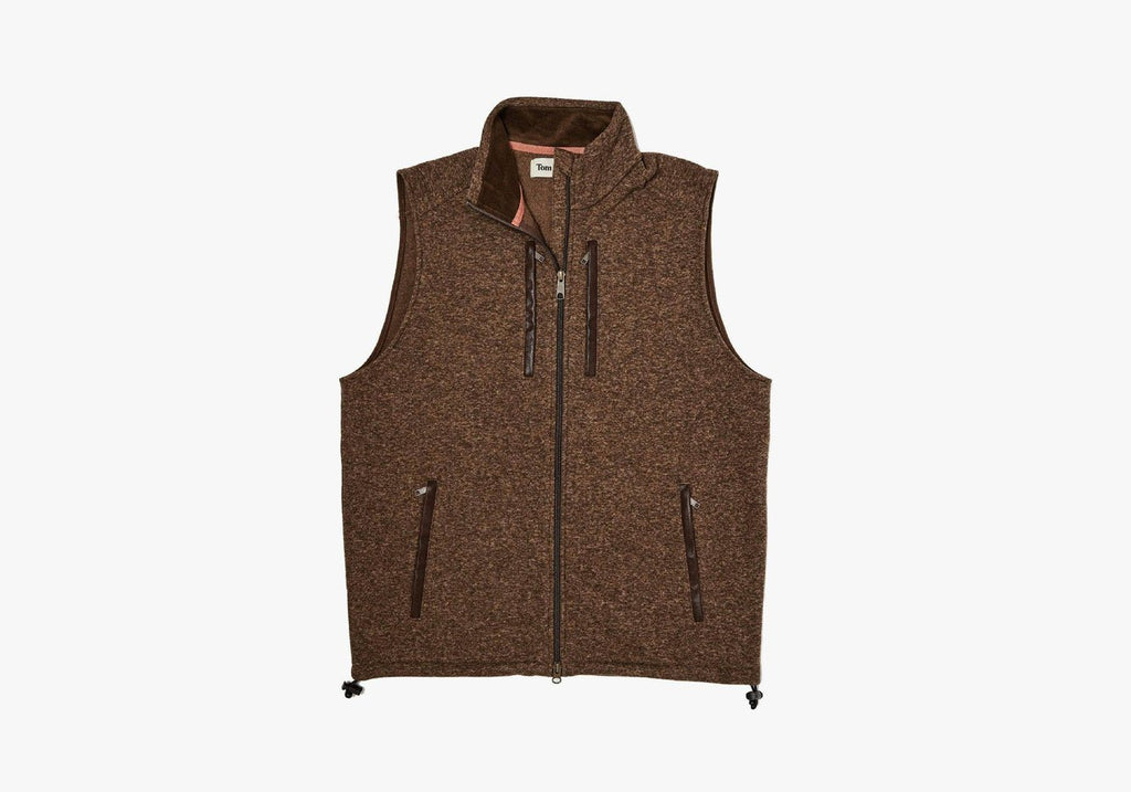 Tom Beckbe Hickory Knit Fleece Vest Outerwear- Ledbury