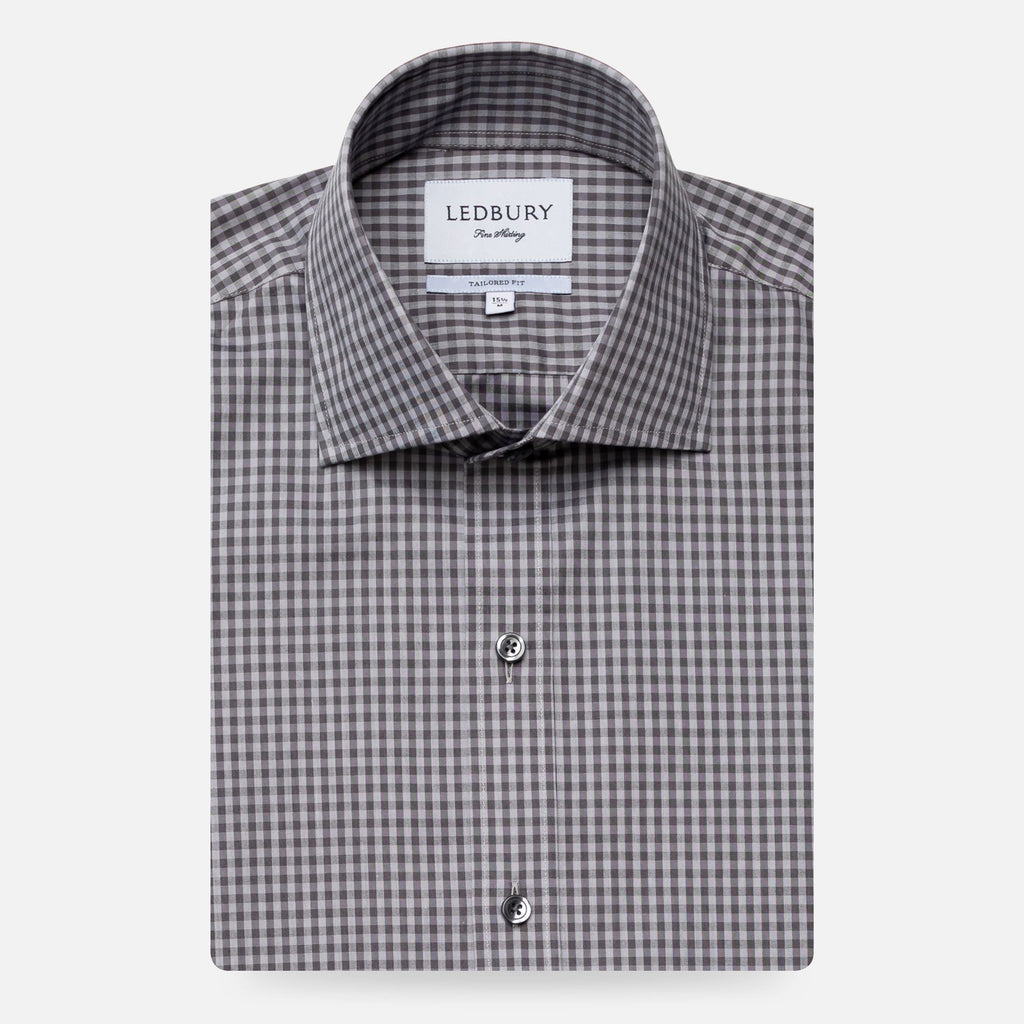 The Grey Barfield Gingham Dress Shirt Dress Shirt- Ledbury