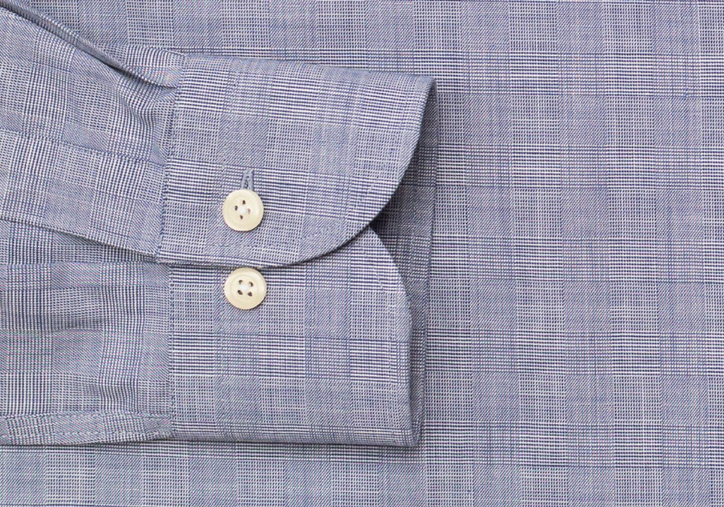 The Navy Brenton Check Dress Shirt Dress Shirt- Ledbury