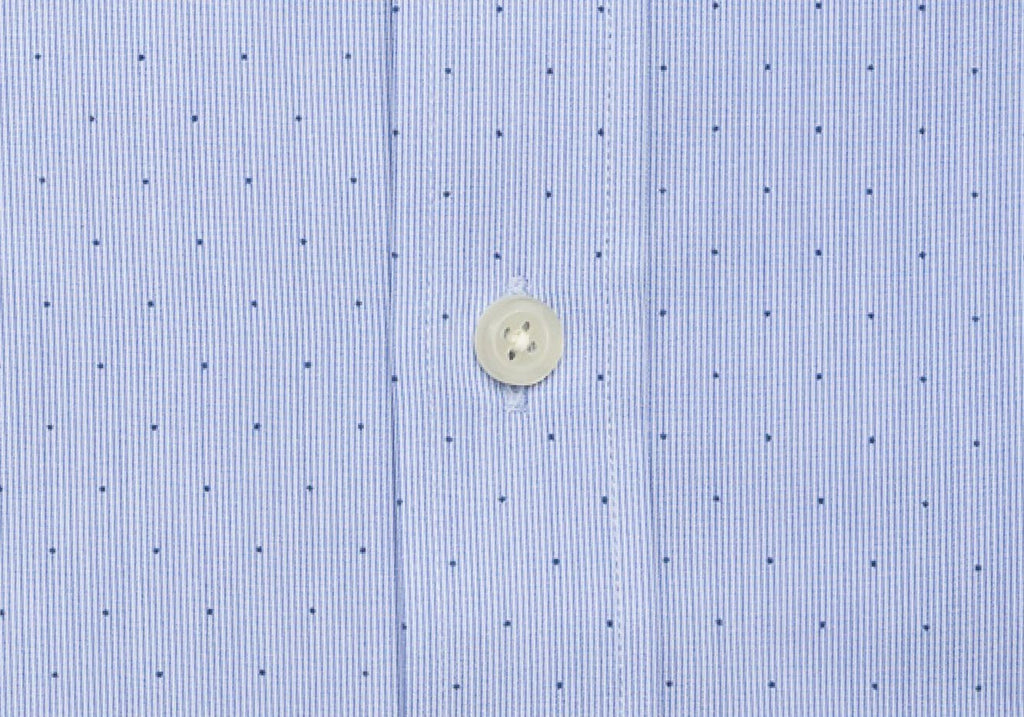 The Blue Conlon Dot Dress Shirt Dress Shirt- Ledbury