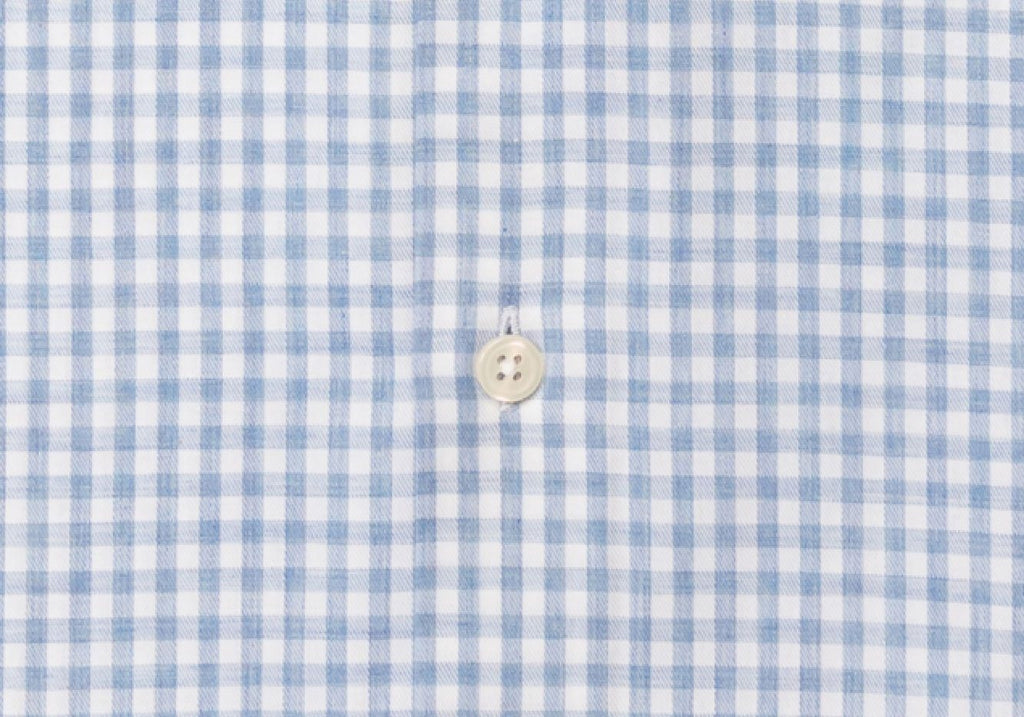 The Light Blue Crosswell Brushed Gingham Casual Shirt Casual Shirt- Ledbury