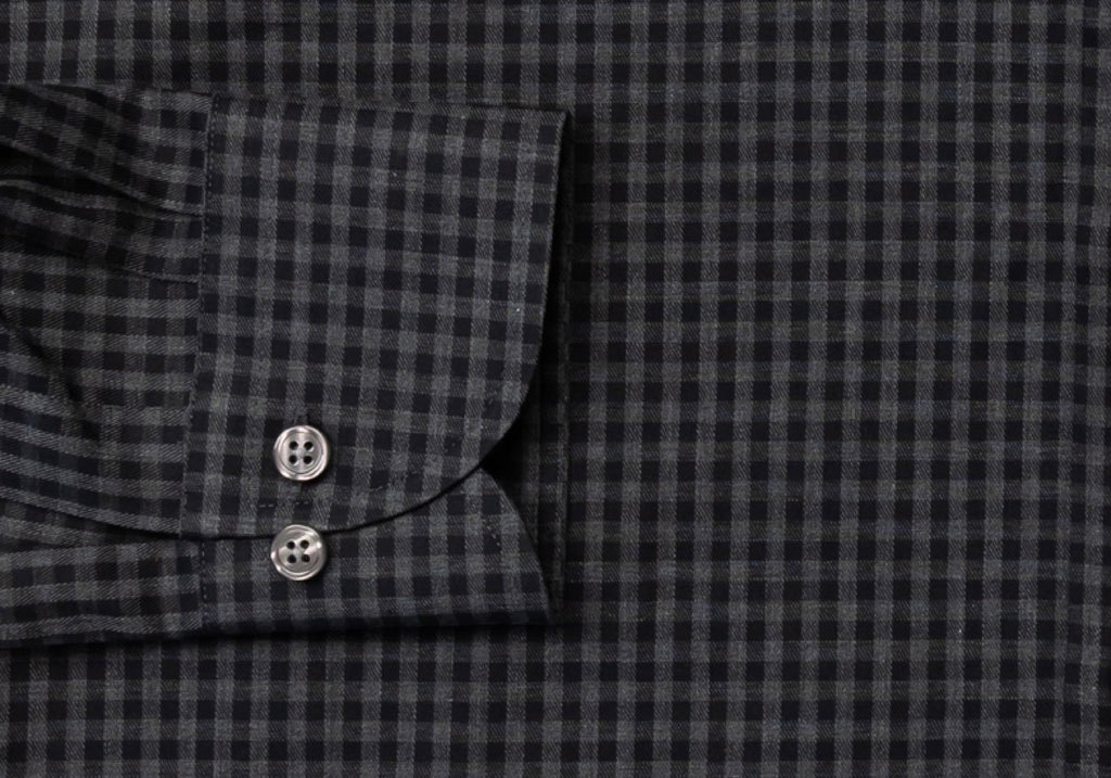 The Charcoal Heather Crosswell Brushed Gingham Casual Shirt Casual Shirt- Ledbury