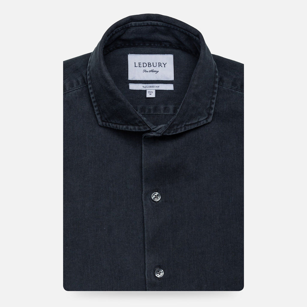 The Slate Cutler Washed Twill Casual Shirt Casual Shirt- Ledbury