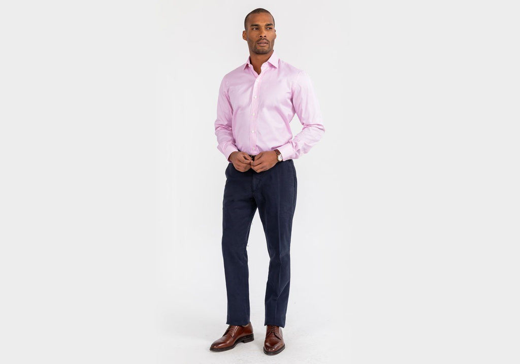 The Pink Danvers Houndstooth Dress Shirt Dress Shirt- Ledbury