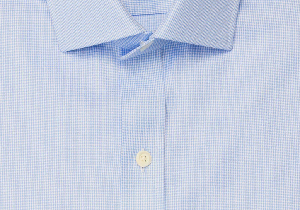 The Blue Danvers Houndstooth Dress Shirt Dress Shirt- Ledbury