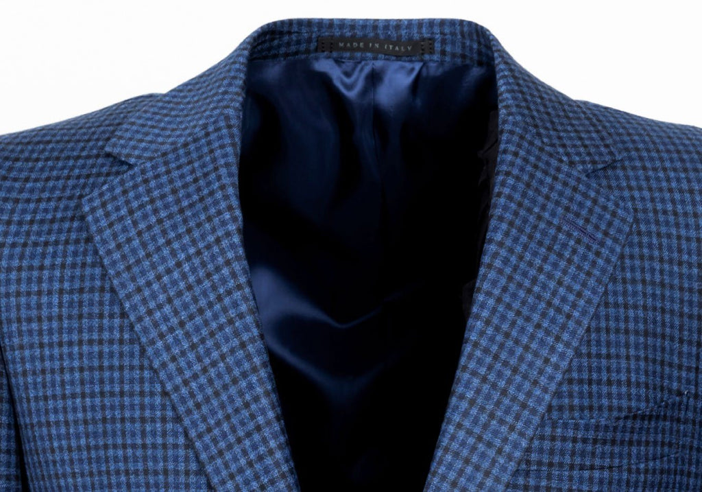 The Blue Draycott Check Sport Coat Blazer- Ledbury