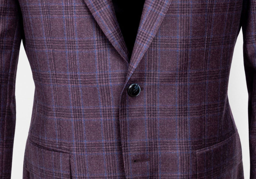 The Plum Ebury Windowpane Sport Coat Blazer- Ledbury