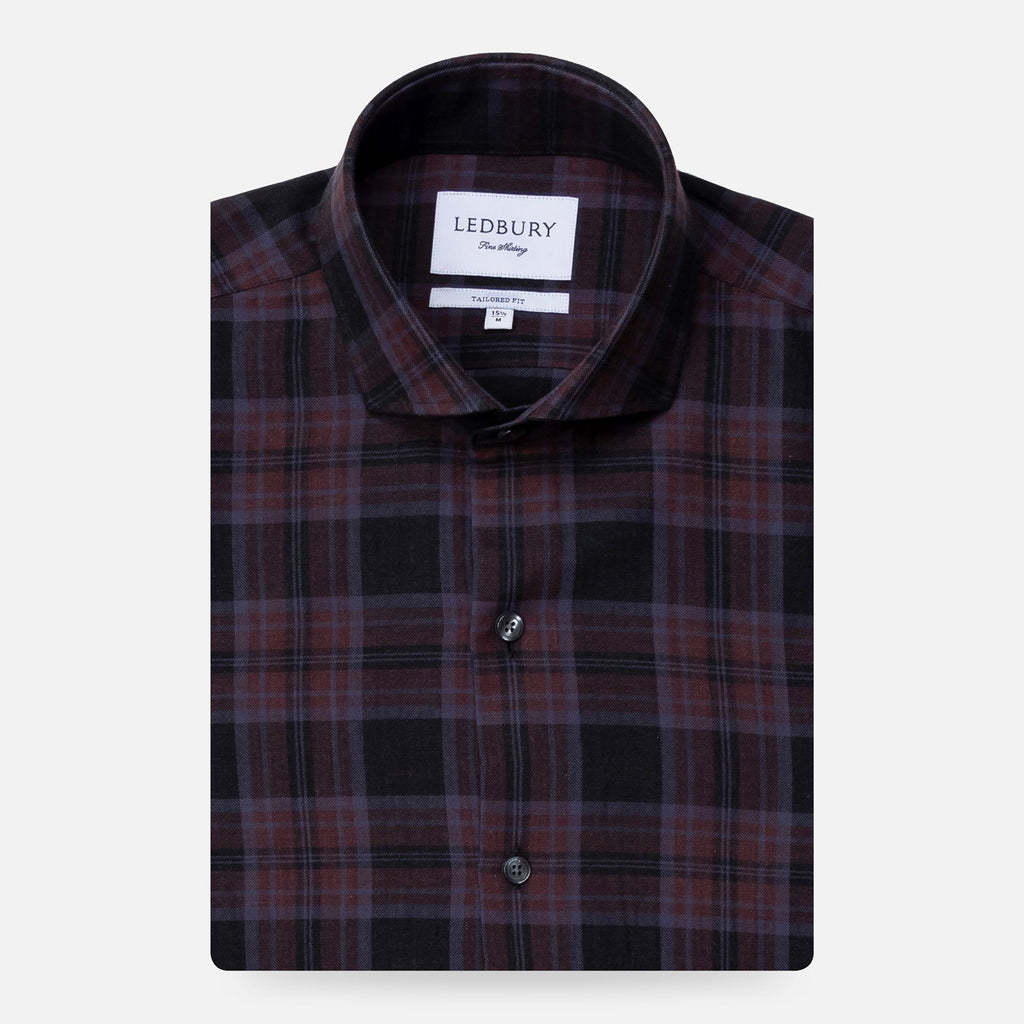 The Raisin Esler Brushed Plaid Casual Shirt Casual Shirt- Ledbury