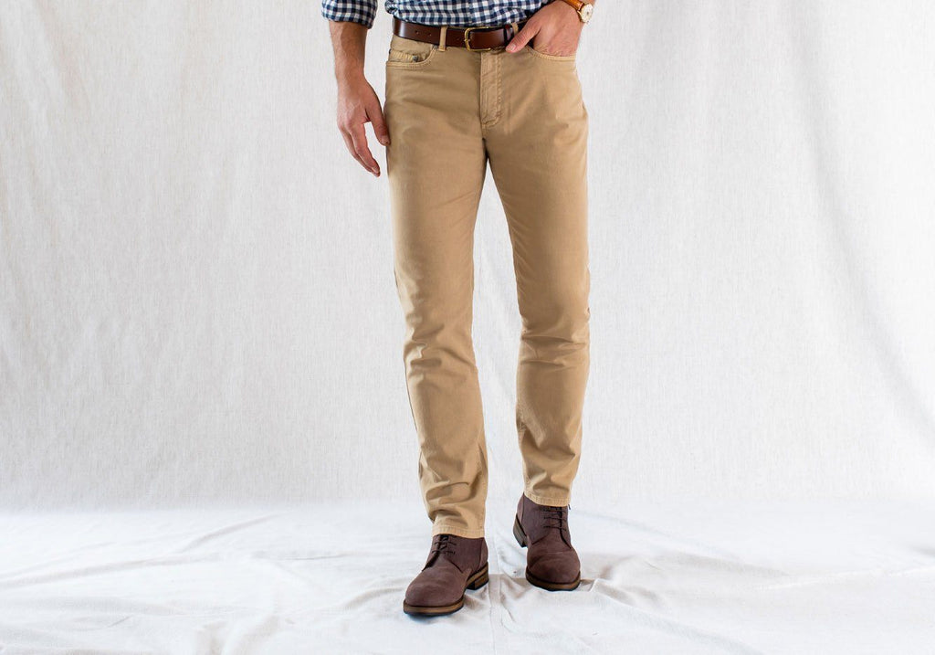The Sand Franklin 5 Pocket Washed Twill Pant Pants- Ledbury