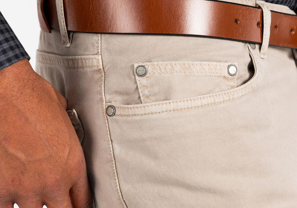 The Khaki Franklin 5-Pocket Washed Twill Pant Pants- Ledbury