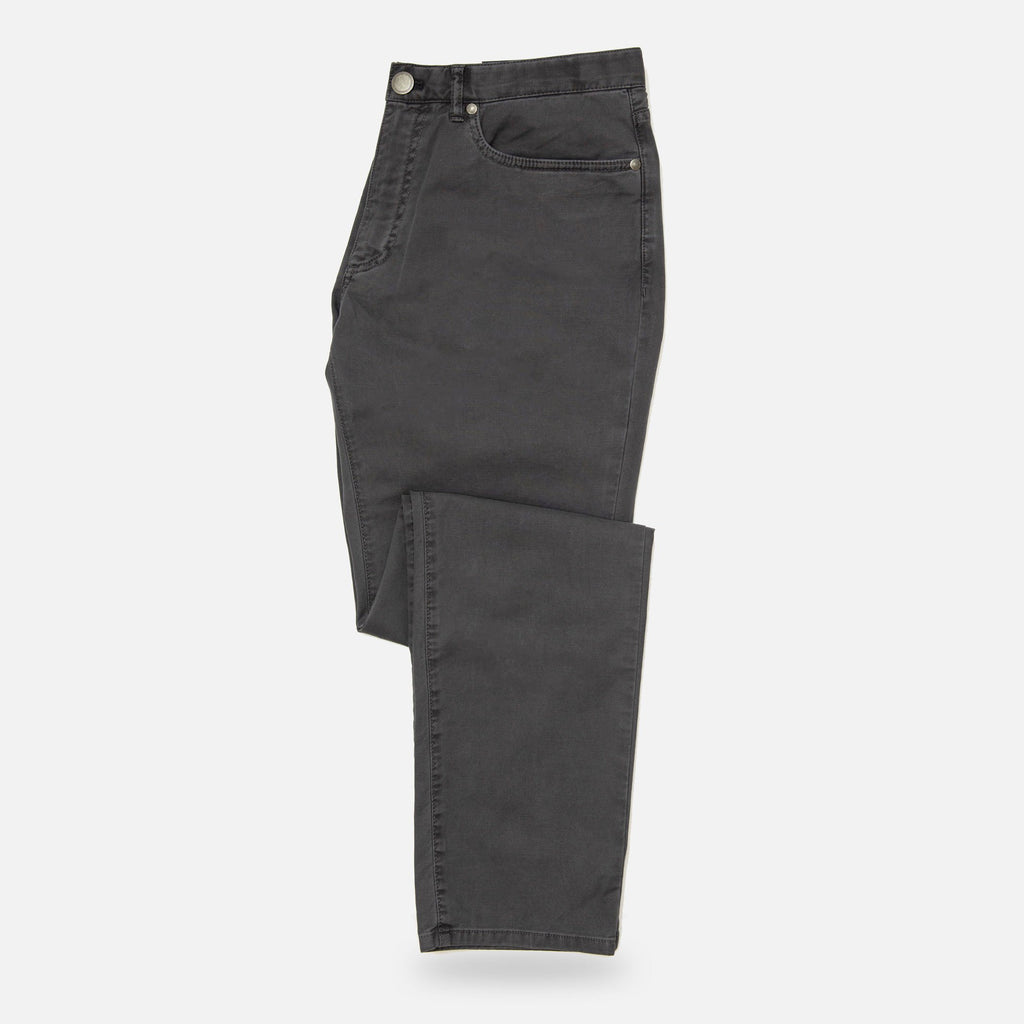 The Charcoal Franklin 5-Pocket Washed Twill Pant Pants- Ledbury