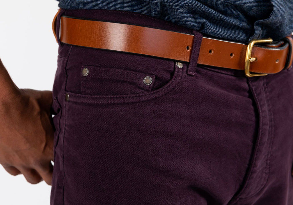 The Oxblood Franklin  5-Pocket Moleskin Pant Pants- Ledbury