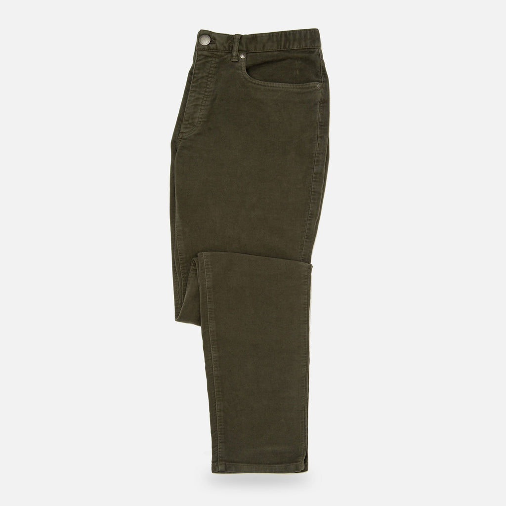 The Olive Franklin 5-Pocket Moleskin Pant Pants- Ledbury