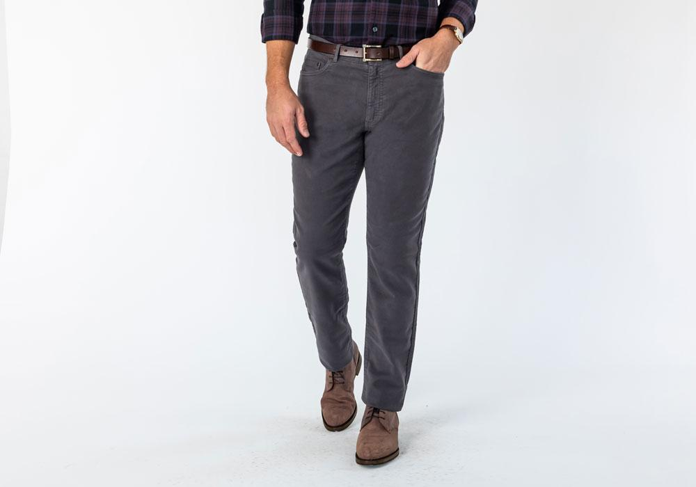 The Charcoal Franklin 5-Pocket Moleskin Pant Pants- Ledbury