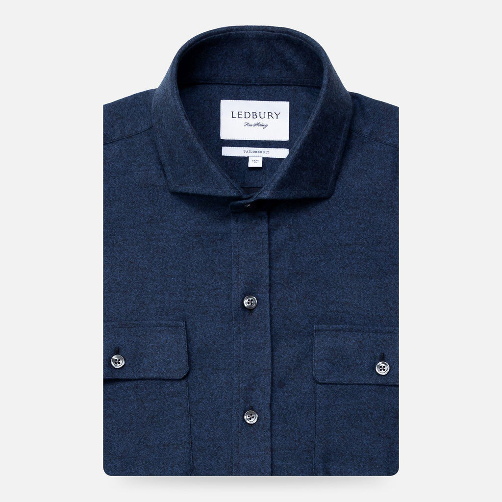 The Dark Blue Heather Heyming Flannel Casual Shirt Casual Shirt- Ledbury