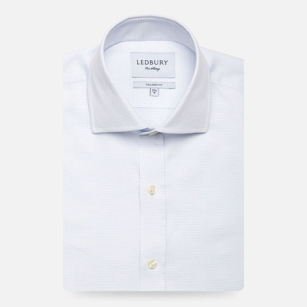 The White James Dot Dress Shirt Dress Shirt- Ledbury