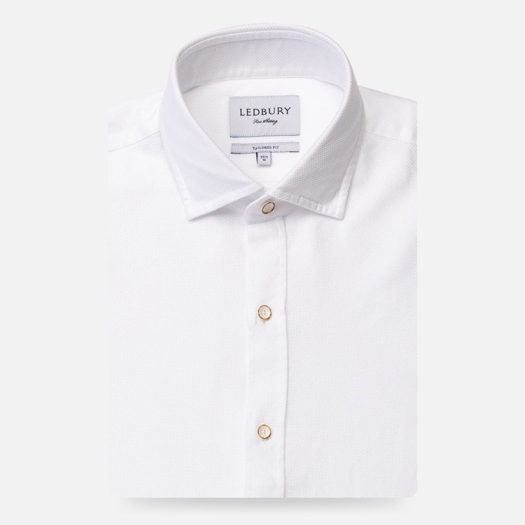 The White Kent Sport Texture Dress Shirt Dress Shirt- Ledbury