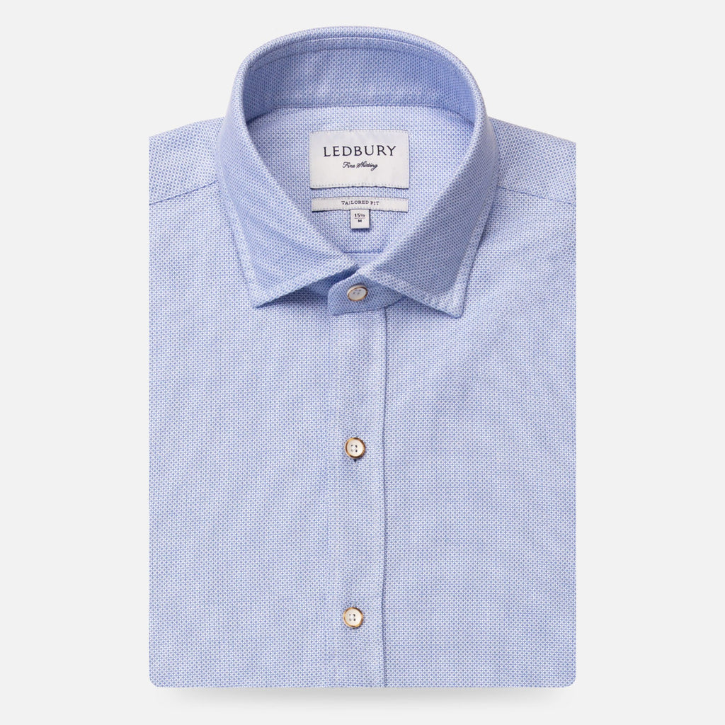 The Light Blue Kent Sport Texture Dress Shirt Dress Shirt- Ledbury