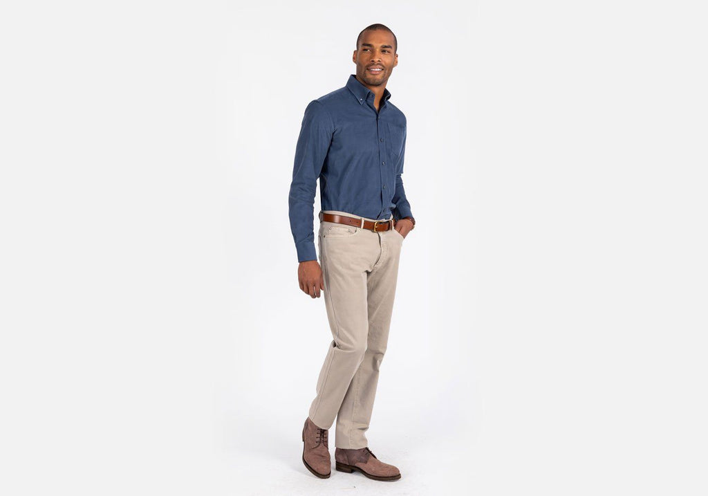 The Deep Blue Mathews Corduroy Casual Shirt Casual Shirt- Ledbury