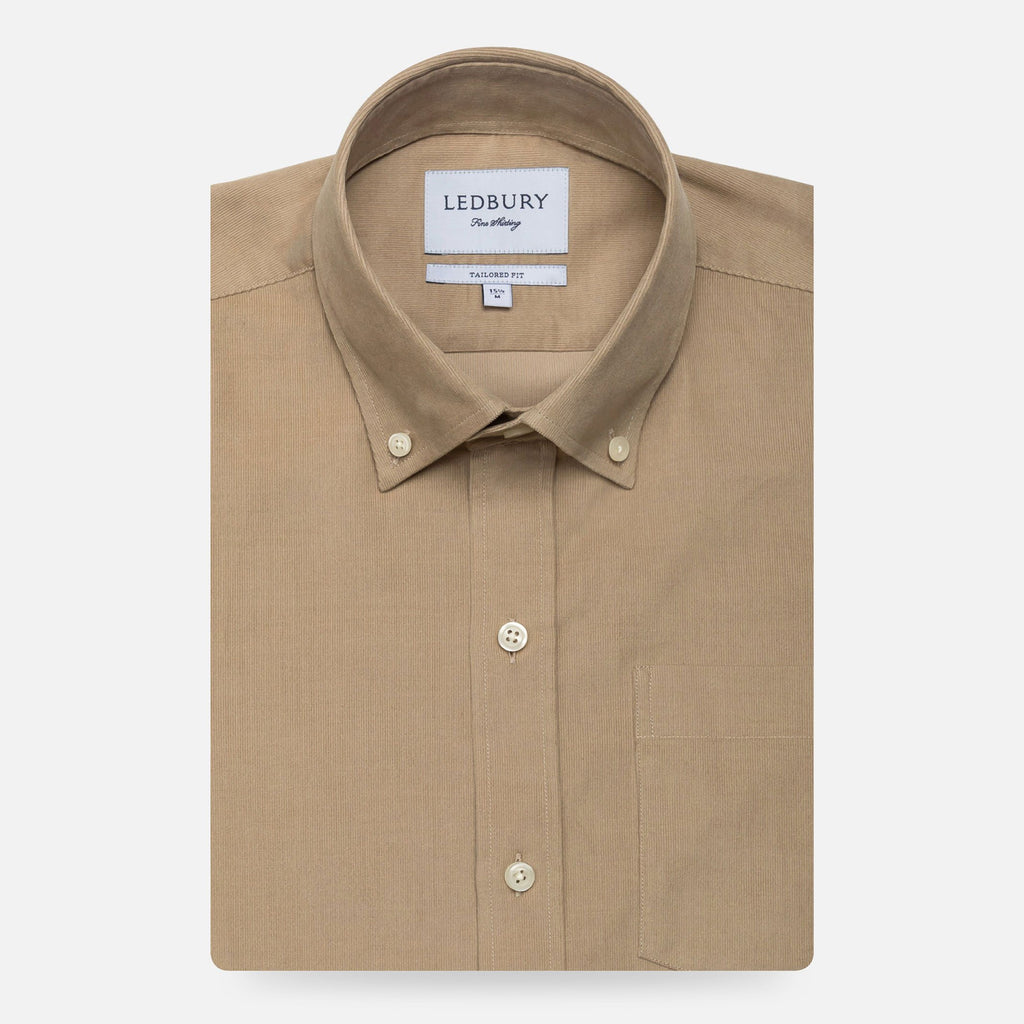 The Tan Mathews Corduroy Casual Shirt Casual Shirt- Ledbury
