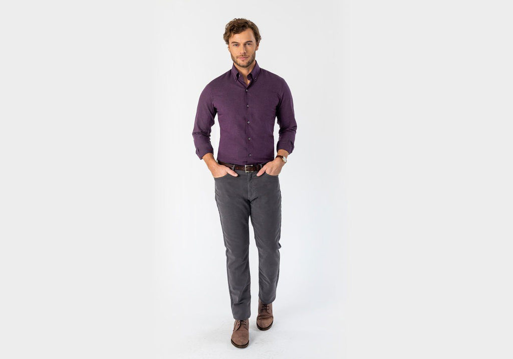 The Plum Morris Brushed Casual Shirt Casual Shirt- Ledbury