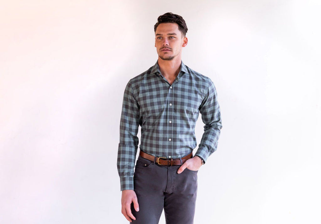 The Sage Roslyn Gingham Casual Shirt Casual Shirt- Ledbury