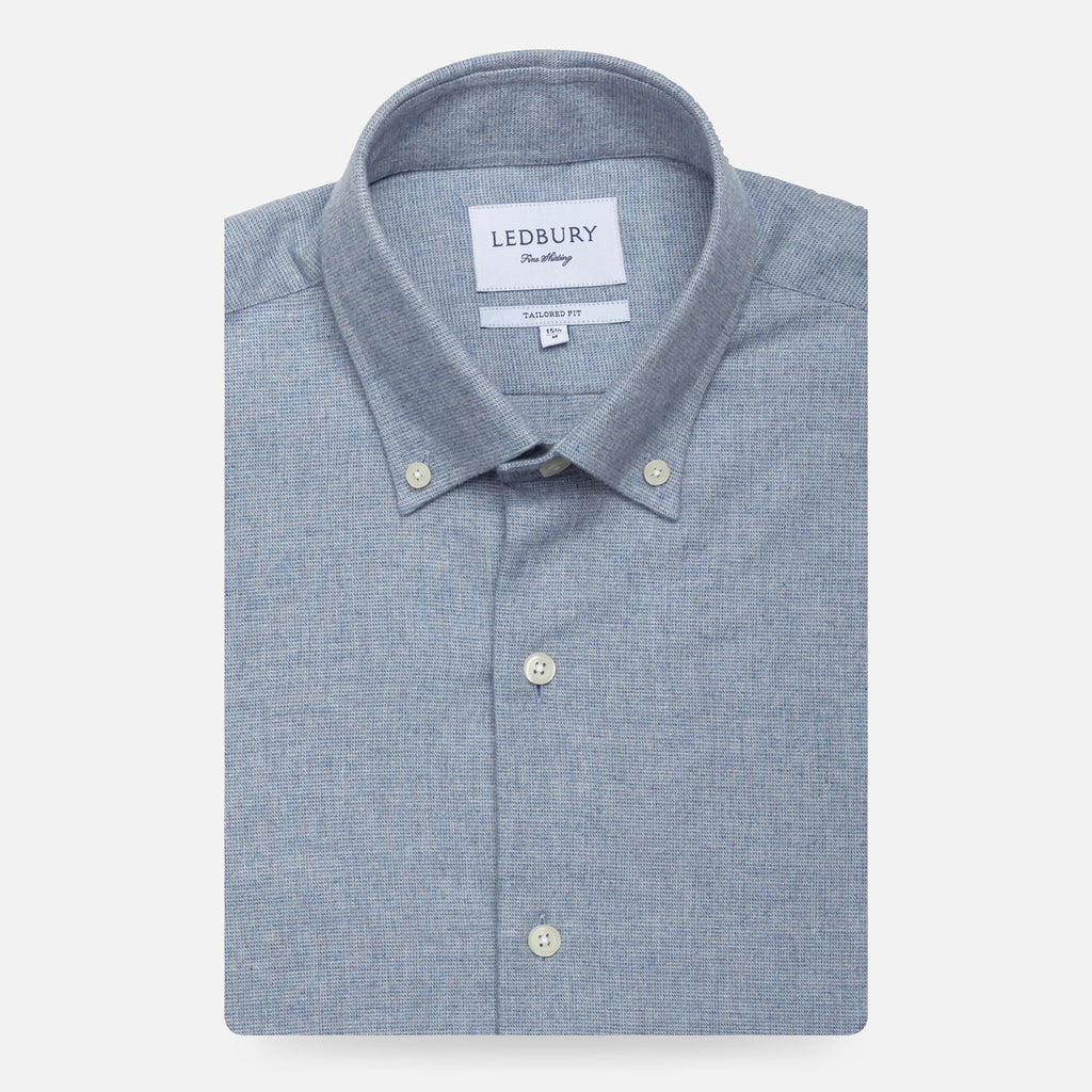 The Light Blue Heather Ryan Brushed Casual Shirt Casual Shirt- Ledbury