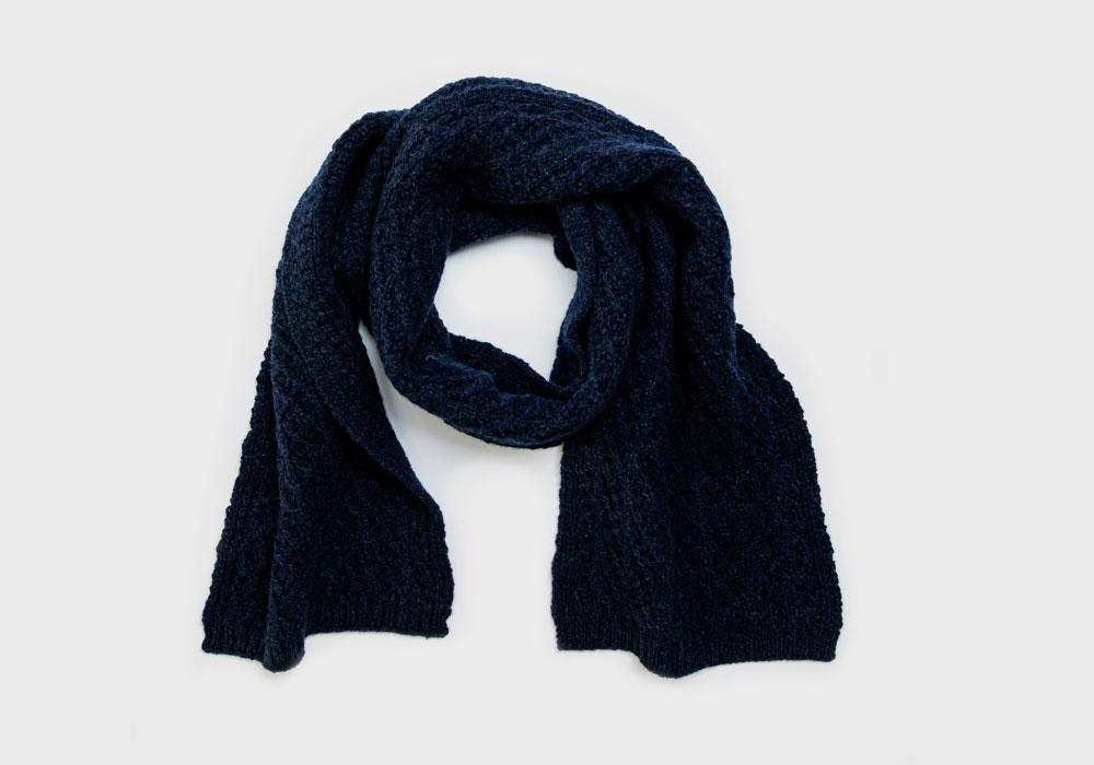 The Navy Heather Whittington Scarf Scarf- Ledbury