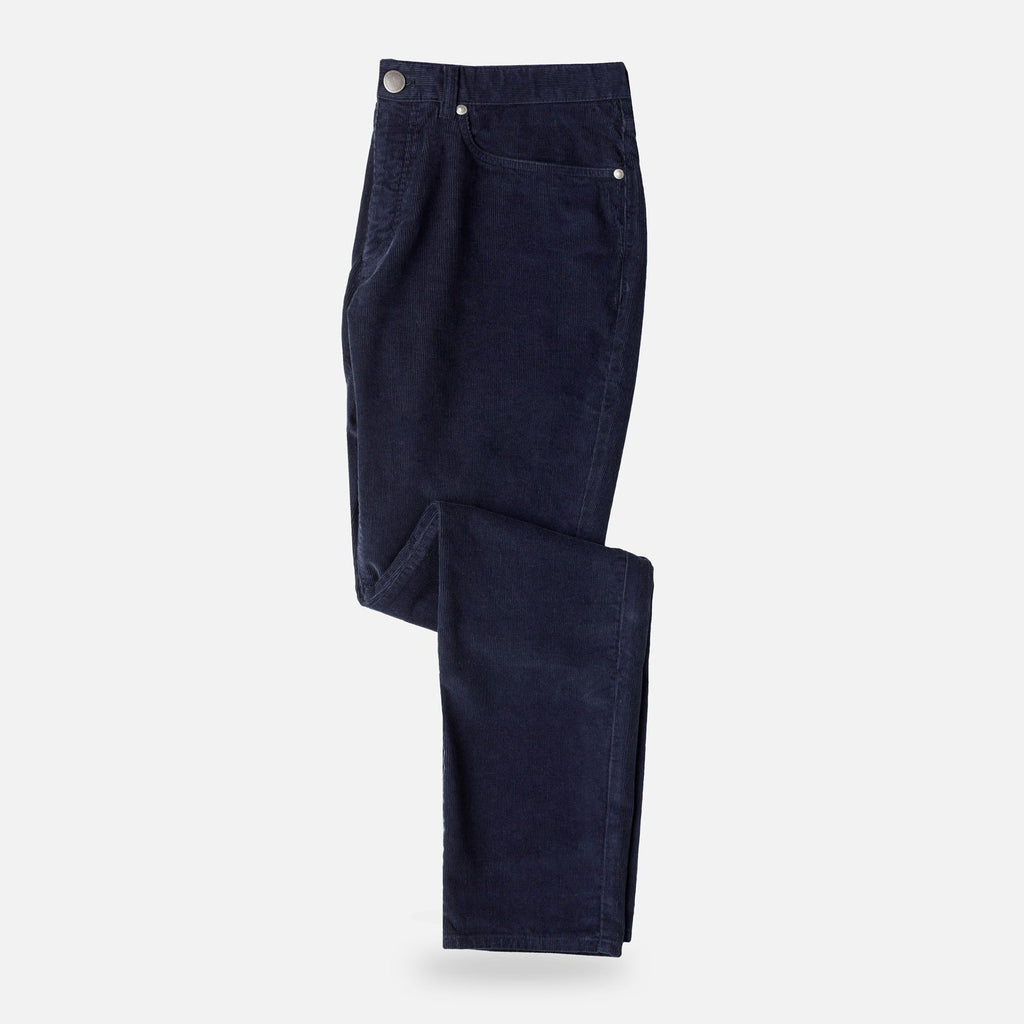 The Navy Franklin 5-Pocket Corduroy Pant Pants- Ledbury