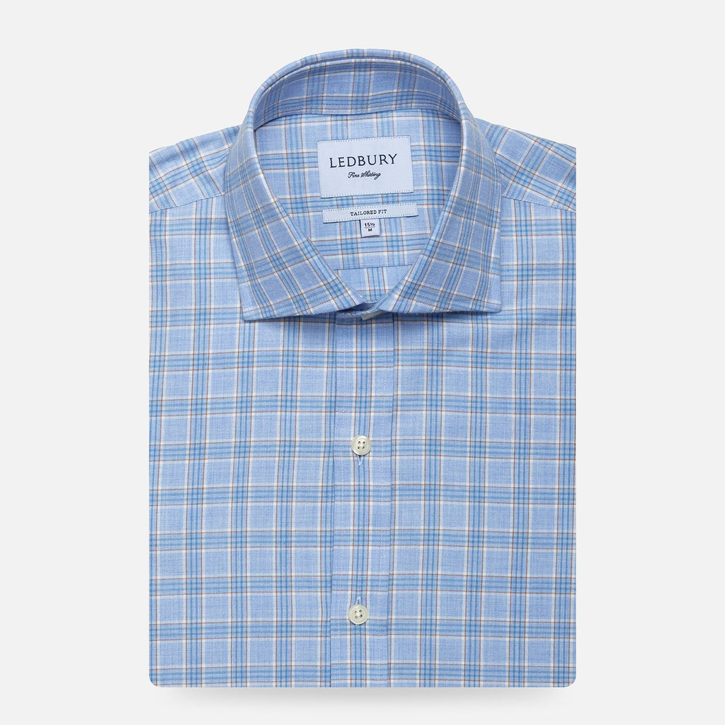 The Light Blue Heather Bos Check Casual Shirt Casual Shirt- Ledbury