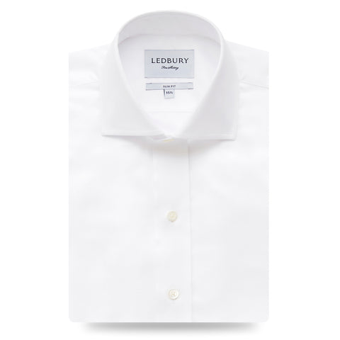 The White Owen Fine Twill Dress Shirt