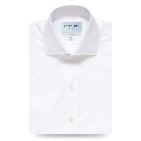 The White Rutherford 120 Dress Shirt