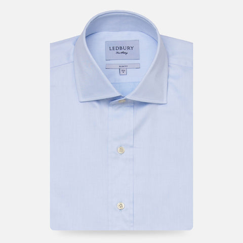The Blue Fine Twill Spread Dress Shirt
