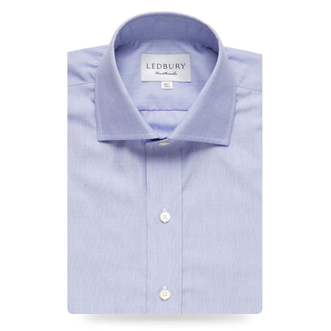 The Blue Rutherford 120 Dress Shirt
