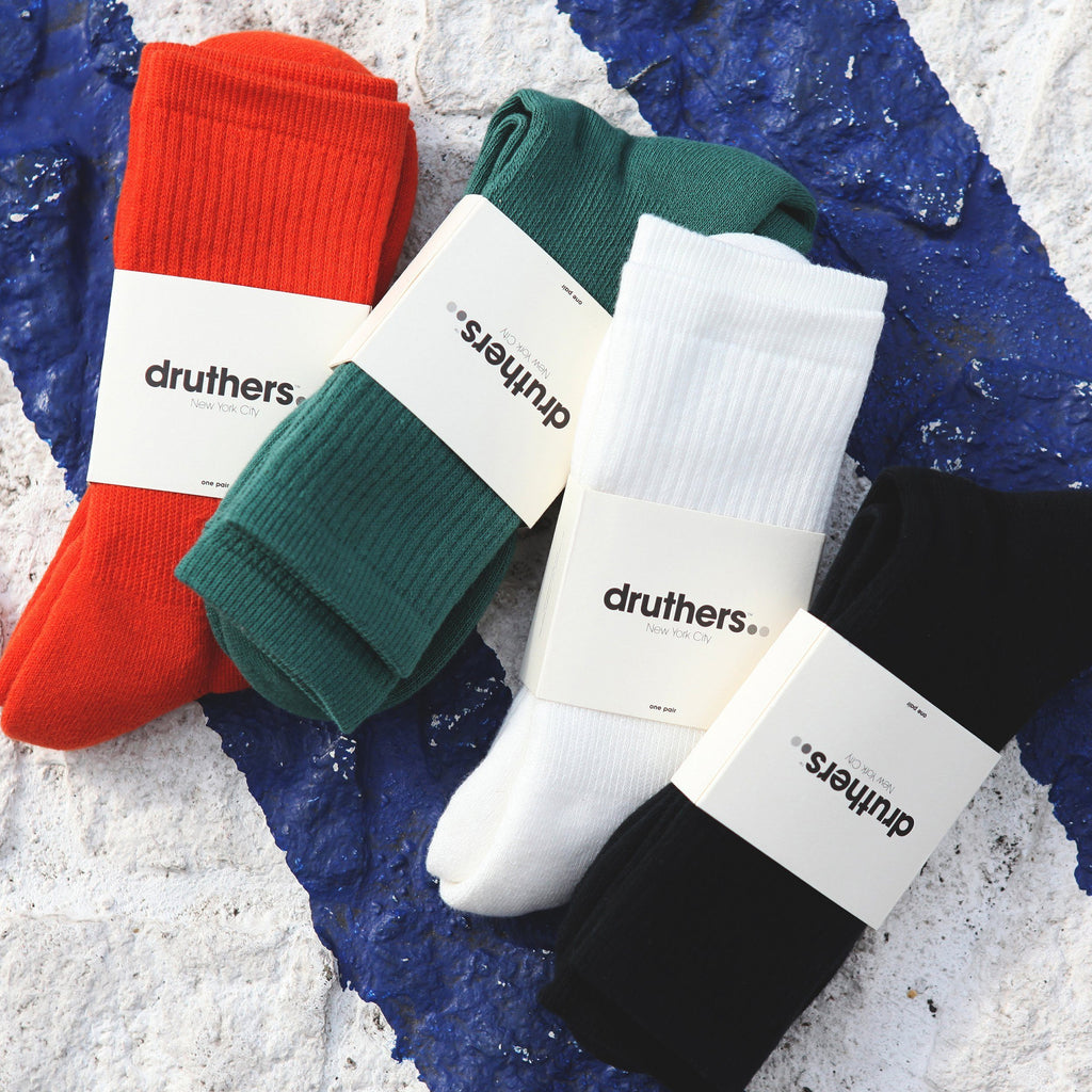 Druthers Black Everyday Organic Cotton Crew Socks socks- Ledbury