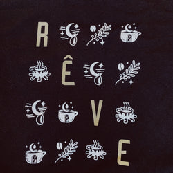 Black Rêve Grid T-shirt (Short Sleeve)