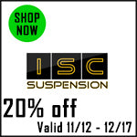 ISC Suspension Black Friday Sale