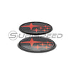 SubiSpeed Front and Rear Full Replacement Emblems (Gloss Black) - 15-20 WRX/STI