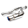 Invidia N1 Resonated Single Exit Catback Titanium Tip - 15-20 WRX/STI