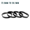 Subaru Hub Ring Set - 72.6mm to 56.1mm
