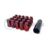 Circuit Performance Star Spine Drive Lug Nuts Red 12x1.25 - Universal