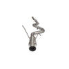 Carven Single Exit Catback Exhaust Satin Polished Tip - 15-20 WRX/STI